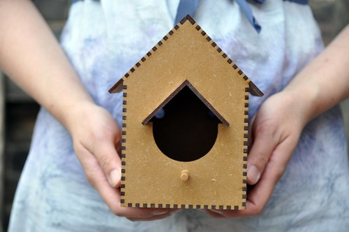Laser cut birdhouse by Chris