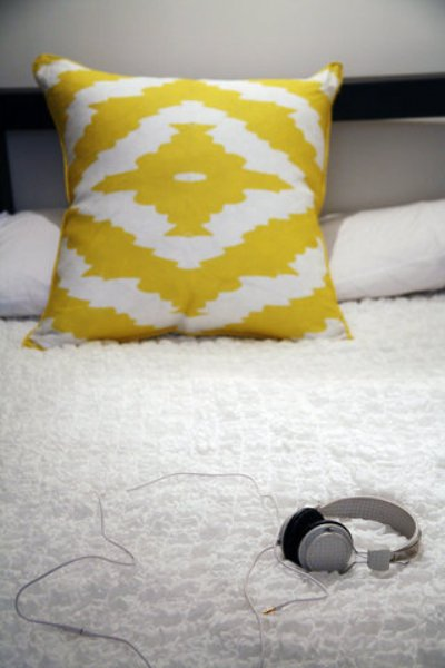 AphroChic Haze Mimosa Ikat Pillow