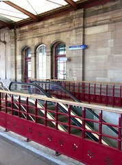 Strasbourg - main train station (Iro {Ivy style33}) Tags: trip red france stone wall architecture modern stairs traditional strasbourg trainstation bergandy shortweekend urbancharm thenmeetsnow