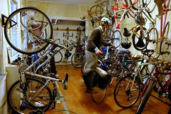 bike storage in LA's Eco-Village (by: Elly Blue, creative commons license)