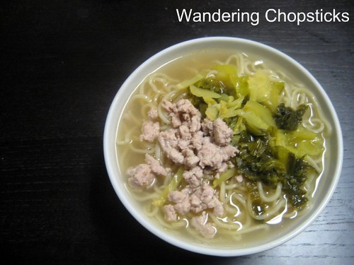 Chinese Noodle Soup with Ground Turkey and Pickled Mustard Greens 2