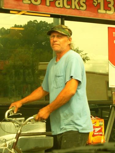 Homeless Dude w/ Bike