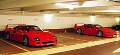 Ferrari F40 combo in Paris (Martijn Kapper) Tags: two paris france sisters italian brothers duo sony parking ferrari exotic parked alpha avenue supercar martijn a100 combo f40 kapper foch carspotting autogespot autospotten