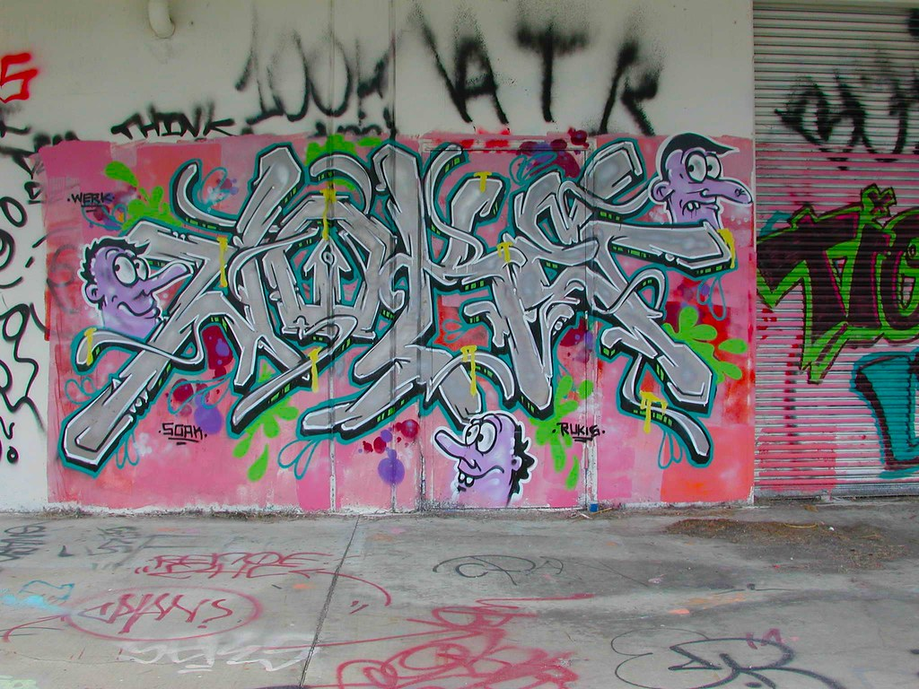 JOKE, Graffiti, the yard EastBay