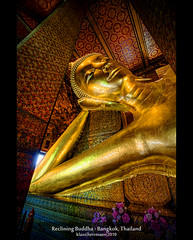 Reclining Buddha - Bangkok, Thailand (HDR) (farbspiel) Tags: travel red vacation holiday tourism colors yellow photoshop relax geotagged thailand religious temple photography nikon colorful asia southeastasia bangkok religion journey mystical 1020mm dri hdr highdynamicrange tha watpho settings monopod superwideangle workflow recliningbuddha postprocessing dynamicrangeincrease ultrawideangle d90 amazingthailand photomatix tonemapped tonemapping holidaydestination detailenhancer processinginformation hdrprocessing klausherrmann sigma1020mmf35exdchsm hdrworkflow geo:lat=1374658200 geo:lon=10049185100 hdrpostprocessing