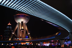 Oriental Pearl Tower - Shanghai (cavallotkd) Tags: china building architecture night place shanghai expo images getty futuristic orientalpearltower lpfuturistic cavallotkd