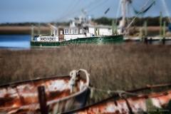Fishing Boats in Tilt-Shift
