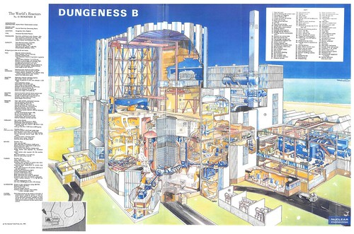 The World's Reactors, No. 41, Dungeness B, Kent, England, UK. Wall chart insert, Nuclear Engineering, 1967