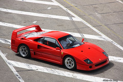 Ferrari F40 (Niels de Jong) Tags: park bw canon de eos interesting track sigma commons ferrari explore f 40 polarizer popular circuit 18200 zandvoort supercar circular niels 2010 jong pol fcn f40 f50 cpz explored polarisatiefilter hypercar nielsdejong 1000d krimpendrummer ndjmedia