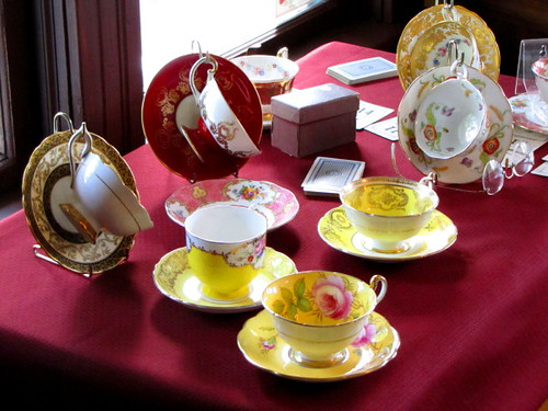 Fine China on display at the London Heritage Farm in Richmond BC