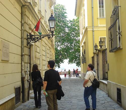 Budapest . Noegylet utca, dans les rues de Buda.
