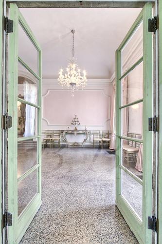 Through Green door to Pink room