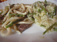 Asparagus risotto or with pljukanci