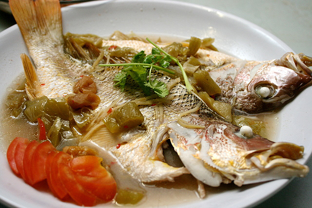 Teochew-style steamed fish
