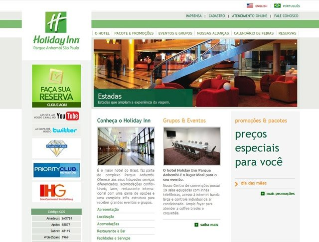 Home - Site Holiday Inn Parque Anhembi