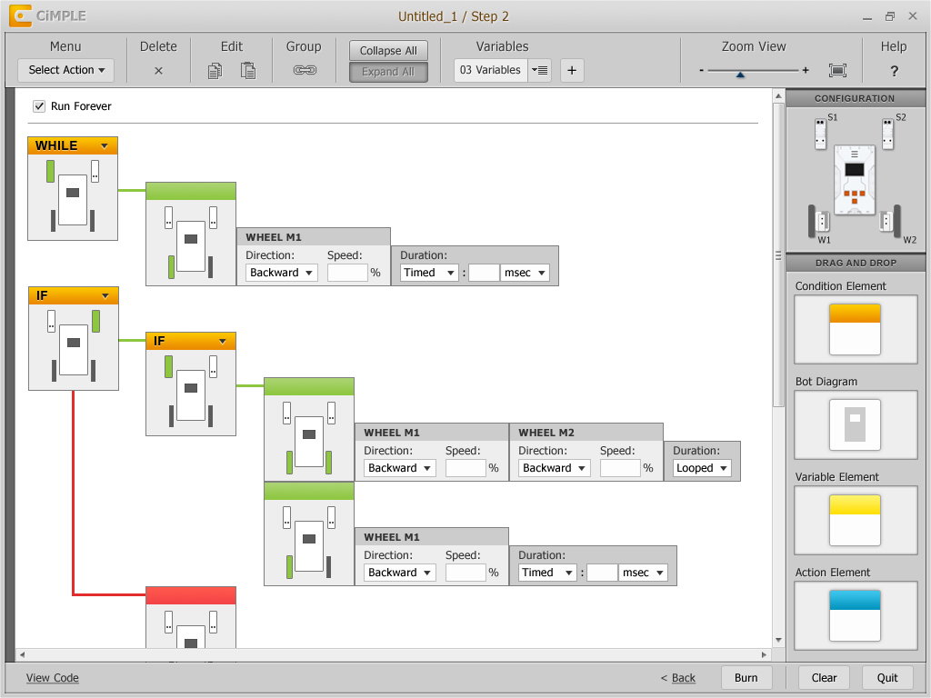 CiMPLE Visual Programming