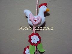 MBILE GALINHA (ART'S CLRICE-artes em feltro e tecido) Tags: animals felt feltro decorao galinhas bichinhosemfeltro animaisemfeltro mbiledegalinha