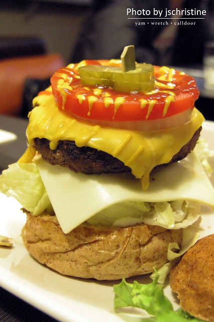 Push雙起司漢堡(單層)