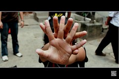 STOP (Less than 3) Tags: nepal kid hand no fingers palm stop kathmandu