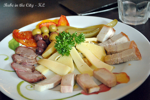 Cold Platter RM38 for 1 or RM70 for 2