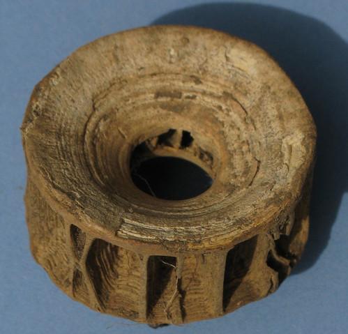 Shark vertebra from Skriðuklaustur, Iceland, copyright 2009 S. Hamilton-Dyer