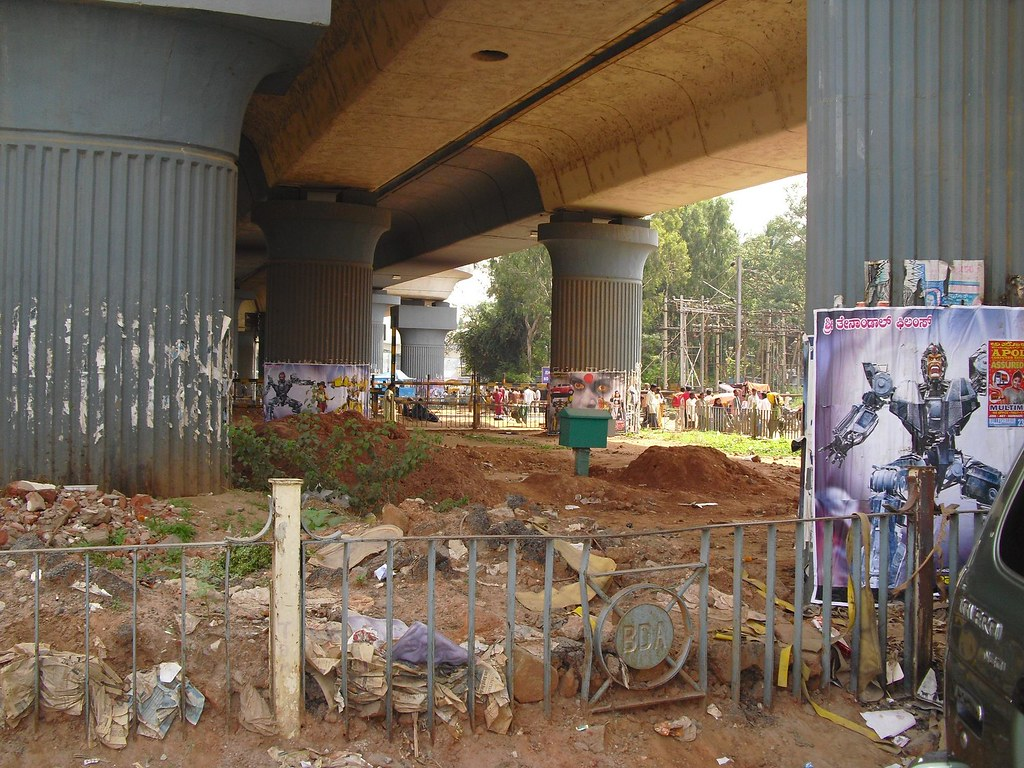 Hebbal bus stand south of rail line