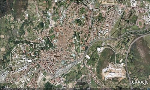 Santiago de Compostela (from Google Earth)