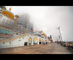 Taj Mahal in a foggy day
