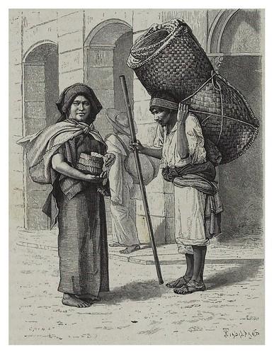 005-Vendedores de tortillas y Alfombras tejidas de paja-Les Anciennes Villes du nouveau monde-1885- Désiré Charnay