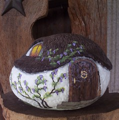 37front&window (WytcheHazel) Tags: rock stone cottage handpainted collectible magical wicca enchanted pagan