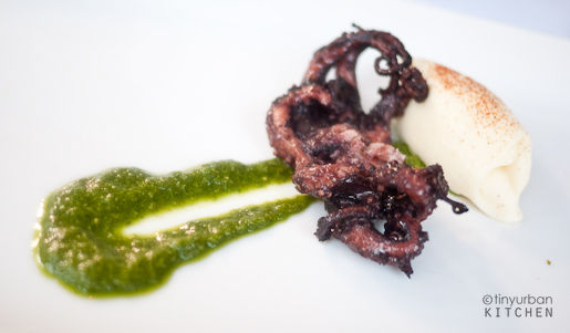 GRILLED OCTOPUS Genovese pesto, potato mousse $15