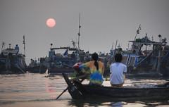 Sunrise, Chau Doc, Mekong Delta, Vietnam