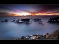 Surf's Down? (danishpm) Tags: ocean seascape clouds sunrise canon rocks australia wideangle nsw aussie aus 1020mm manfrotto sigmalens eos450d hastingspoint 450d 06nd bestofaustralia 09nd tweedshire sorenmartensen tweedarea hitechgradfilters