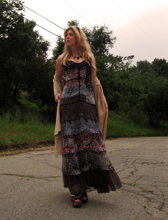 miu miu sandal clogs+ 70s dress-6dark