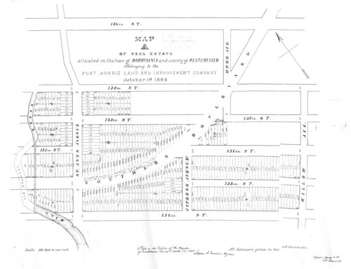 Real Estate Map A - Lower Mill Brook 1868-85