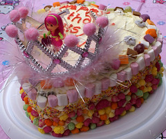 Happy Birthday Daisy Olivia (Posh Totty Designz) Tags: birthday 2 party tiara cake candy daughter birthdayparty birthdaycake marshmallows sweets icing strawberryshortcake dollymixtures poshtottydesignz