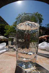 Water glass (chasdobie) Tags: sun distortion ontario canada water glass restaurant ottawa waterglass mammagrazzi