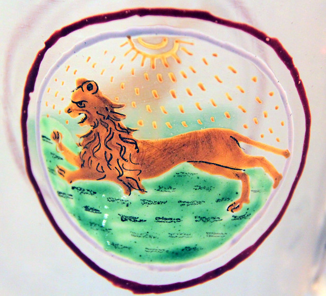 Lion - Venetian enamelled glass, 15-16c