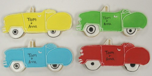 [Image from Flickr]:Muscle Car Cookie favors