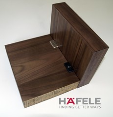 Chunky furniture panels with Hafele lightweight board connectors