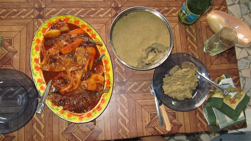 Couscous and fish stew