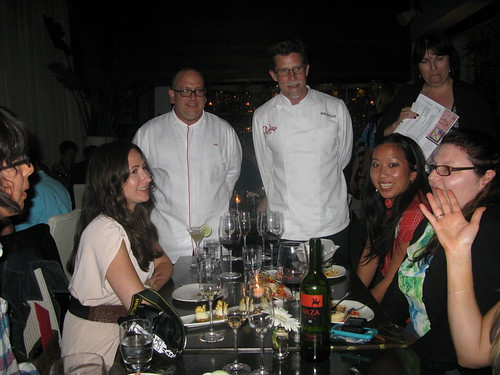 Rick Bayless and Executive Chef Michael Brown greet the table by Caroline on Crack