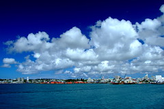 arrive at Miyako island (( _`) Sho) Tags: blue sea summer sky cloud japan port island paradise  okinawa   miyako