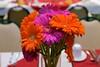 orange flowers wedding photo