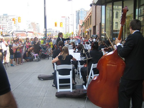 outdoor classical concert at Rideau Center