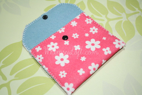 Tutorial : Simple Felt Purse 12