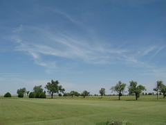 Clouds at Blackmer Golf Course (funny strange or funny ha ha) Tags: blue school trees green oklahoma reunion clouds golf town memorial day all weekend small course fabulous ok hooker panhandle 2010 blackmer