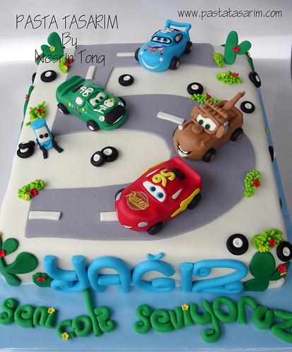Astounding Disney Cars Birthday Cake Yagiz A Photo On Flickriver Personalised Birthday Cards Veneteletsinfo