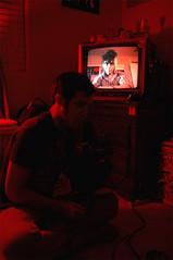 TV Set (eff-vee-ess) Tags: camera set analog d50 tv lyrics video song christian redlight redroom recording vhs rigo thecramps idiotbox boobtube