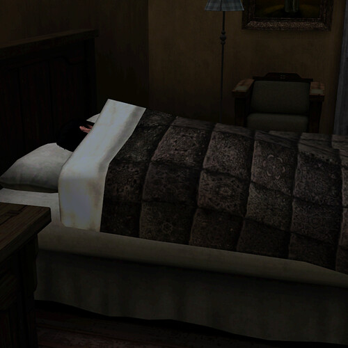 Aaron hides in the bedroom and gets some sleep